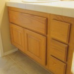Bathroom Cabinets BEFORE Lacquer