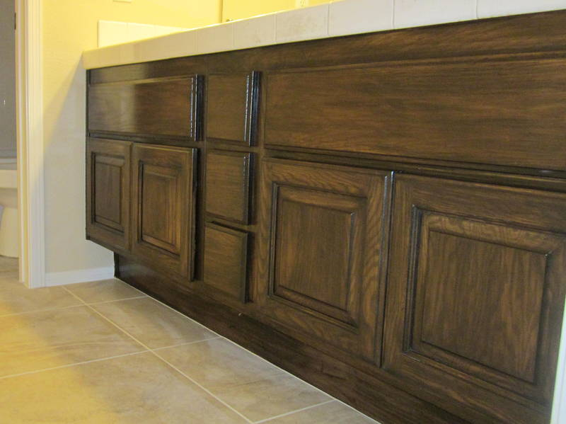 Bathroom Cabinets AFTER Lacquer